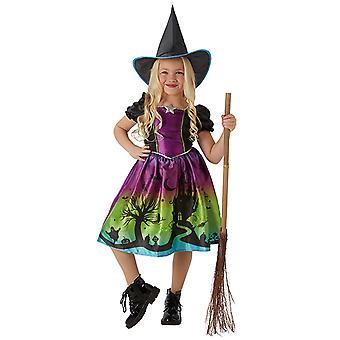 Ombre della strega strega vestito splendido costume da strega per bambini