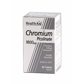 Health Aid Chromium Picolinate 200ug, 60 Tablets