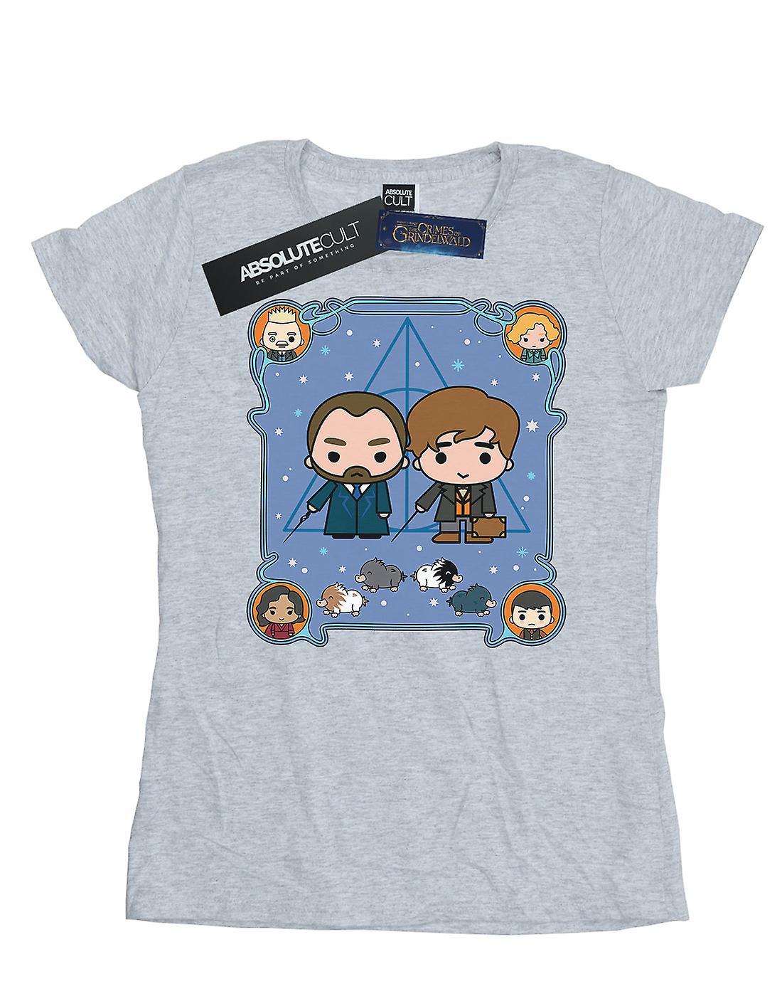 Fantastic Beasts Women's Chibi Newt And Dumbledore T-Shirt