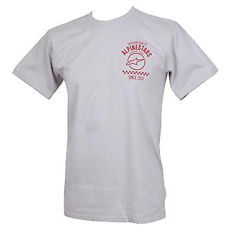 Alpinestars Men's T-Shirt ~ Fazztrack silver
