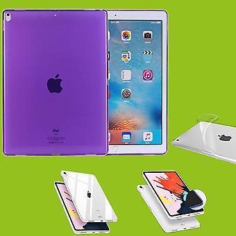 Für Apple iPad Pro 11.0 Zoll 2018 Lila Tasche Hülle Case Cover TPU Silikon dünn