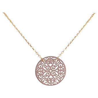 Gemshine damer yoga Mandala cirkelrund hög kvalitet Rose guldpläterad-vinröd
