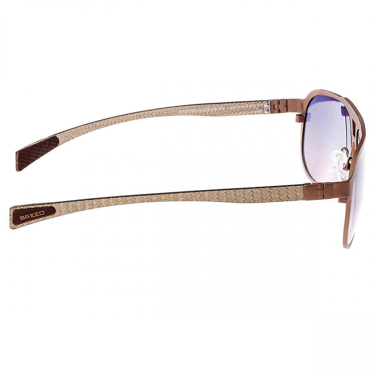 Breed Apollo Titanium and Carbon Fiber Polarized Sunglasses - Brown/Purple