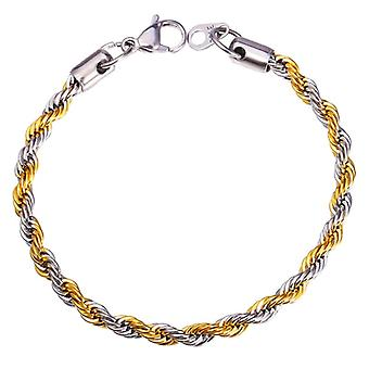 U7 twisted bracelet in gold and Silver
