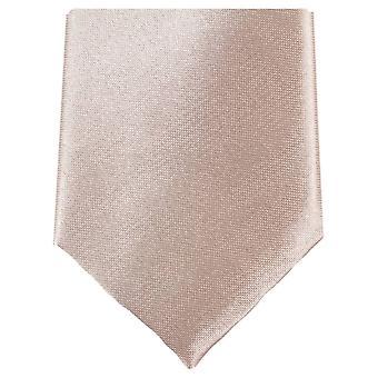 Knightsbridge Neckwear Slim Polyester Tie - Cream