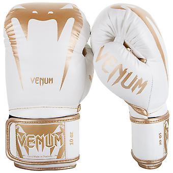 Venum Giant 3.0 Hook and Loop MMA Training Gloves - White/Gold