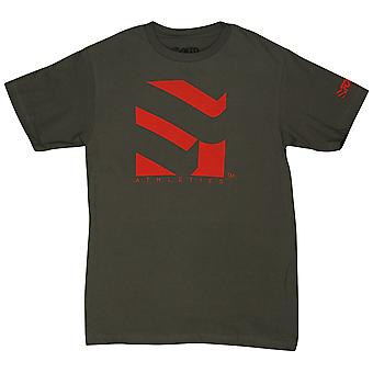 Form Athletics Mens Serrated 2 T-Shirt -Charcoal/Red