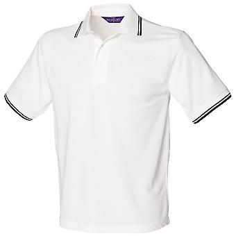 Henbury Kids Unisex 65/35 Contrast Tipped Polo Shirt (Pack of 2)