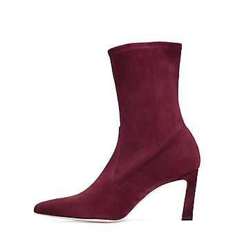 Stuart Weitzman Womens Rapture 55 Leather Pointed Toe Mid-Calf Fashion Boots