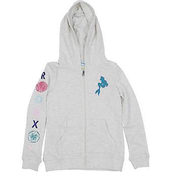 Roxy Girl x Disney Little Mermaid My Fins Zip Fleece Hoodie - Metro Heather