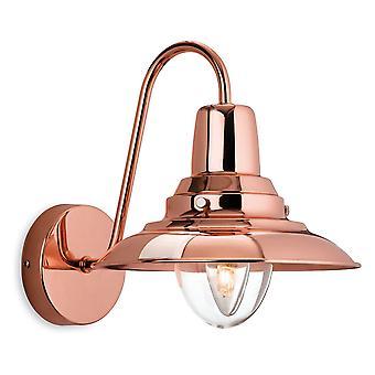 Firstlight-1 luz de pared interior de cobre, vidrio transparente-8686CP