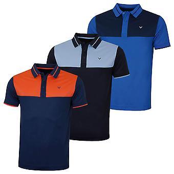 Callaway heren kleur blok Golf Polo shirt