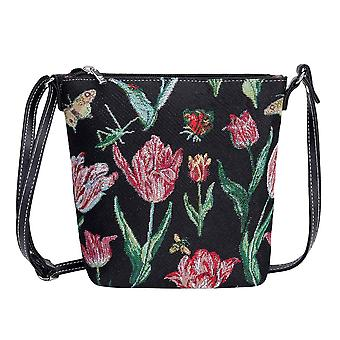 Marrel's tulip black shoulder sling bag by signare tapestry / sling-jmtbk