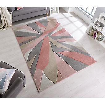 Met de hand gesneden verbrijzelen schemerige roze rechthoek tapijten moderne tapijten