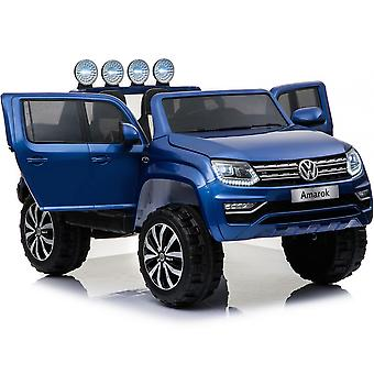 Licensed VW Volkswagen Amarok 12V Ride On Car With Leather Seat Blue