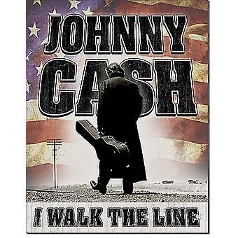 Johnny Cash I Walk The Line metal wall sign 410mm x 300mm  (de)