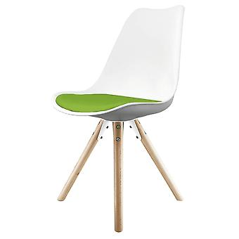 Fusion Living Eiffel Inspired White And Green Dining Chair z pyramid light wood nogi
