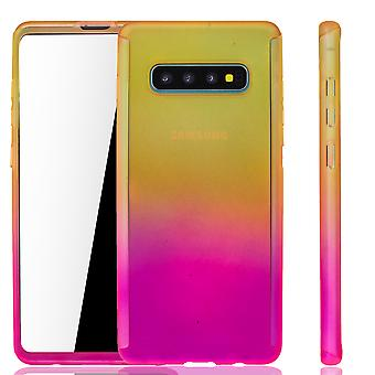 Samsung Galaxy S10 Phone Case Protection Case Full Cover Tank Protection Foil Jaune / Rose