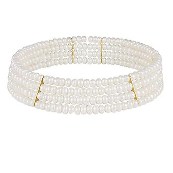 Eternal Collection Princess Freshwater Pearl Choker Necklace (Gold)