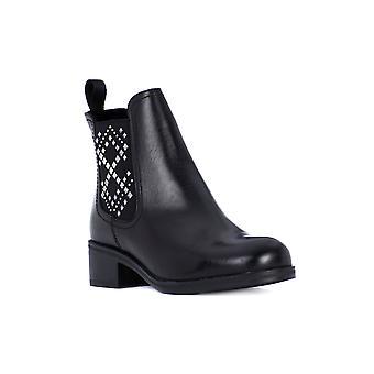 Frau silk black stud shoes