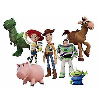 Toy Story Official Table Top Cardboard Cutout / Standees Party Pack of 7