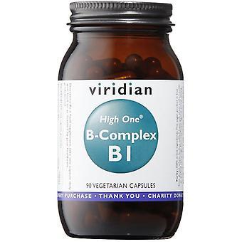 Viridian HIGH ONE Vitamin B1 with B-Complex Veg Caps 90 (232)