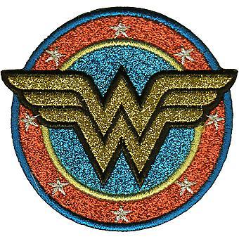 Patch - DC Comics - Wonder Woman Shield Gold Glitter p-dc-0177-g