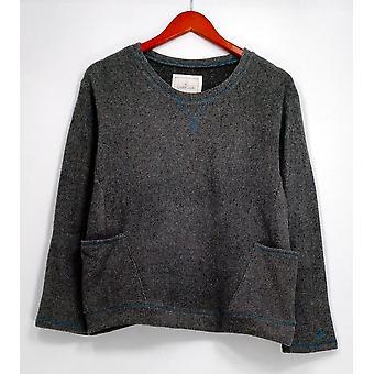 Cuddl klær Petite Sleepshirt Petite strekk fleece nyhet lyng grå