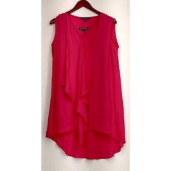 Kate & Mallory Top Mixed Media Sleeveless Tank Pink Womens A434363