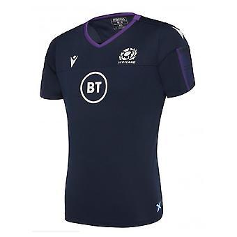 2019-2020 スコットランド マクロン ラグビー ポリドライジム Tシャツ (ネイビー) - キッズ