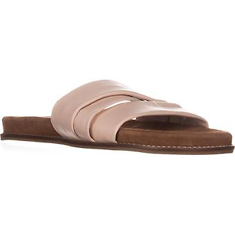 Callisto Womens Perfect Leather Open Toe Casual Slide Sandals