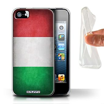 STUFF4 Gel TPU Case/Cover for Apple iPhone 5/5S/Italy/Italian/Flags