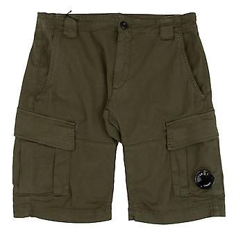 CP Company Bermuda Cargo Stretch Gabardine Shorts Olive 672