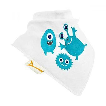 White & blue aliens bandana bib