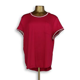 Cuddl Duds Women's Sleepshirt Cool Airy Jersey Pink A346857