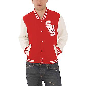 Sleeping With Sirens Baseball Jacket band logo Floater Official Mens Red varsity