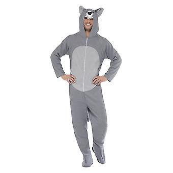 Gli adulti lupo grigio Fancy Dress Costume
