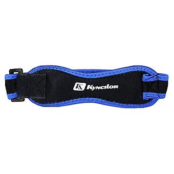 Adjustable knee strap for running-blue