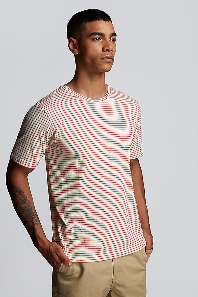 Hymn Midlane Simple Stripe Short Sleeve Shirt Red