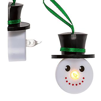 SALE - Two Snowman Design Tealights - With Batteries