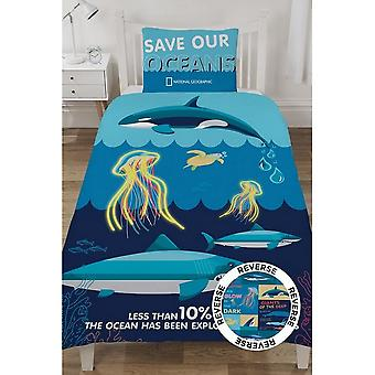 National Geographic Ocean Life Reversible Duvet Set