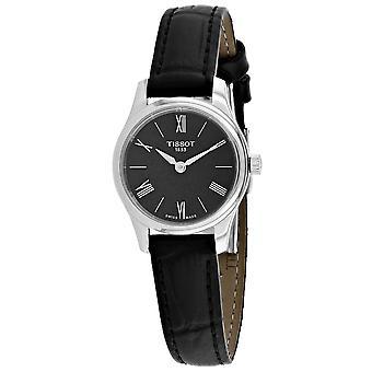 Tissot Frauen's Tradition Schwarzes Zifferblatt Uhr - T0630091605800