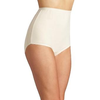 Vanity Fair Women's Plus Size Perfectly Yours Tailored Cotton Brief Panty 15318, Fawn, 3X-Large/10