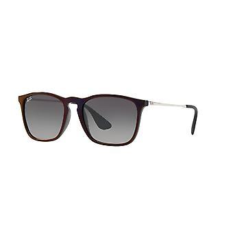 راي بان كريس RB4187 6316/11 الأسود الأحمر / الرمادي الرمادي الرمادي التدرج النظارات الشمسية