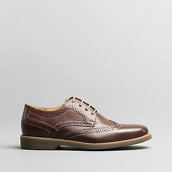 Anatomic & Co. Tucano Mens Leather Brogue Shoes Café