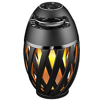 Lexibook Decotech LED Flame Bluetooth Stereo Speaker Black/Yellow (Model BTL075)