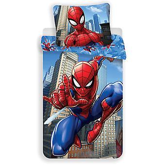 Spiderman Blue Cotton Single Duvet Set - Taille européenne