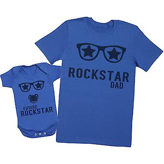 Futuro Rockstar Baby - Mens T Camicia & Baby Body