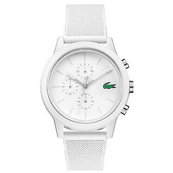 Lacoste 2010974 menn ' s 12,12 hvit REM armbåndsur