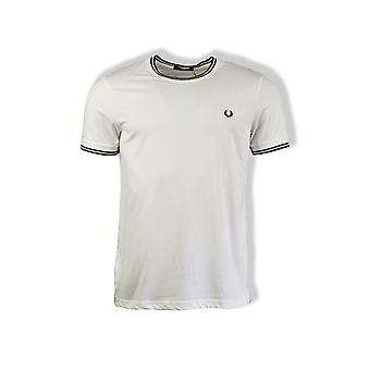 Fred Perry Twin tippes T-Shirt (hvid)